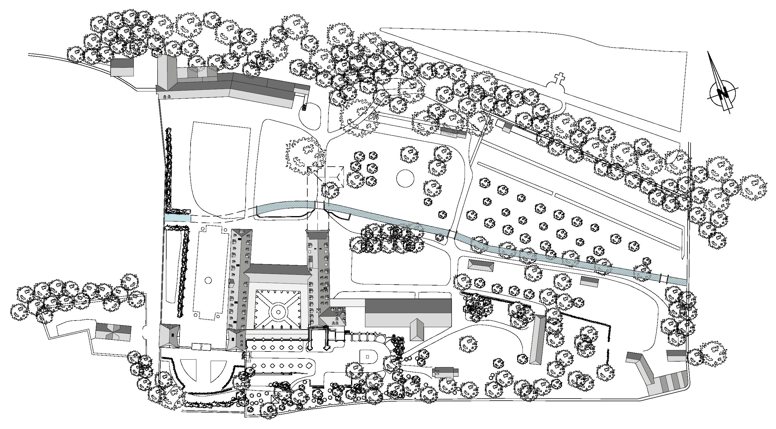 Plan de l'Abbaye Saint-Wandrille